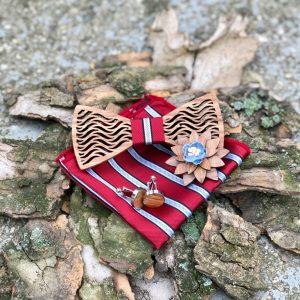 fából készült csokornyakkendő